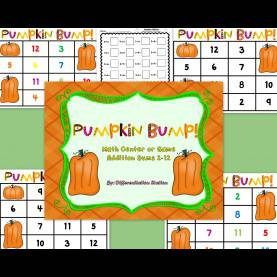 Trending Fall Games For Elementary Students Free!!! Pumpkin Bump! A Pumpkin / Fall Themed Math Center, Gam