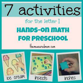 Trending How To Teach Preschool Math At Home Hands-On Math For Preschool: The Letter