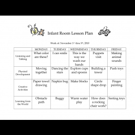 Trending Infant Room Lesson Plans Infant Room Lesson Plan Week Of November 1St Thru 5Th_ 2010 | Fu