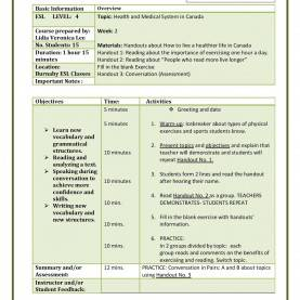 Trending Lesson Plan Template Tesol Burnaby Tesol 2016: Lesson Plan Temp