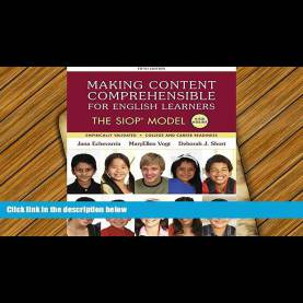 Trending Making Content Comprehensible For English Learners Download Making Content Comprehensible For English Learners: Th