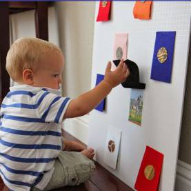 Typical Baby Activities For Daycare Zoo Animal Peek-A-Boo Board | Animal Books, Zoos And Activi