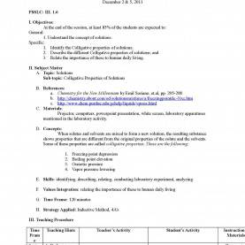 Typical Daily Lesson Plan Chemistry Form 4 Calaméo - Lesson Plan_Colligative Proper