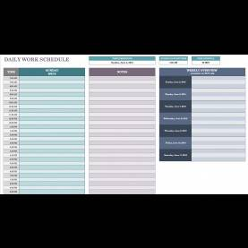 Typical Daily Schedule Template Free Daily Schedule Templates For Excel - Smarts