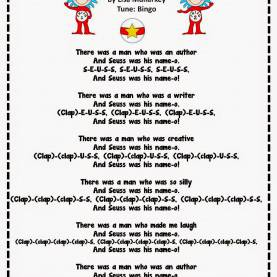 Typical Dr Seuss Lesson Plans Dr. Seuss Song To The Tune Of Bingo. Perfect For The Month O