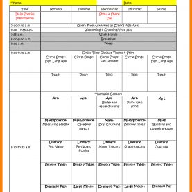 Typical Examples Of Preschool Planning Sheets 4+ Sample Preschool Lesson Plan   Teller Re