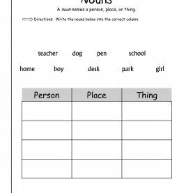 Typical First Grade Lesson Plan Jumpstart 1St Grade Noun Worksheets Free Worksheets Library | Download An