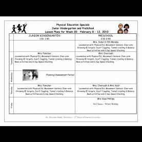 Typical Kindergarten Lesson Plans Physical Education 23 Physical Education Worksheets, Best Photos Of Physica
