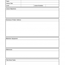 Typical Lesson Outline Template Format For Lesson Plans - Targer.Golden-Drago