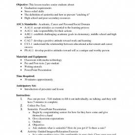 Typical Lesson Plan Format For Senior High School Sample High School Resumes Resume Format Template Simple Stude