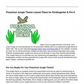Typical Lesson Plans For Preschool Jungle Theme Jungle_Theme_Lesson_Plans_For_Preschool_Kids.Pdf - Docd