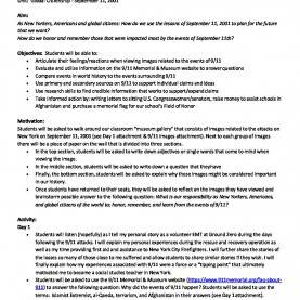 Typical Lesson Plans For Teaching 9/11 9-11 Tribute Museum Nussen Lesson Plan For Web | 9/11 Tribute Mu
