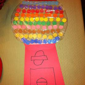 Typical Pre K Project Ideas Katelyn'S Pre-K 100 Day Project Gumball Machine With 100 Gumball