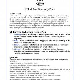 Typical Printable Math Lesson Plans For Preschool Lesson Plans, Challenges, Games & Activities €? Keva Pl