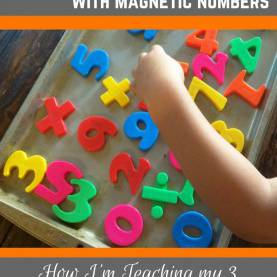 Typical Teaching 3 Year Old Preschool Preschool Math With Magnetic Numbers - From Engineer To Sah