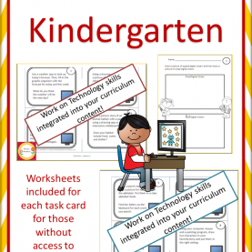 Typical Technology Integrated Lesson Plans For Kindergarten Technology Task Cards For Primary Students | Worksheet