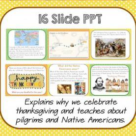 Typical Third Grade Social Studies Lesson Plans History Of Thanksgiving -Power Point & Activities Pac