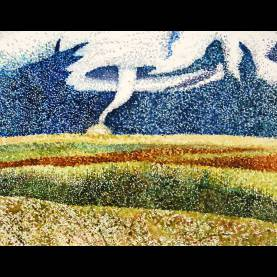 Typical Watercolor Painting Lessons Painting - 9Th-12Th Grades. Pointillism Landscape In Watercolo