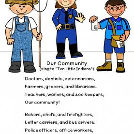 Unusual 5 Lines On Community Helpers Community Helpers: Songs & Rhymes | Community Helpers, Communit