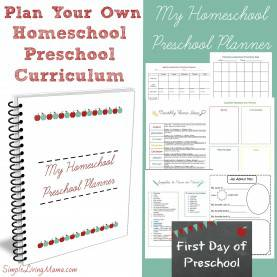 Unusual Different Preschool Curriculum My Homeschool Preschool Planner - Simple Living