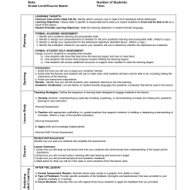 Unusual Edtpa Math Lesson Plan Edtpa Lesson Plan Template - 28 Images - Best Photos Of Earl
