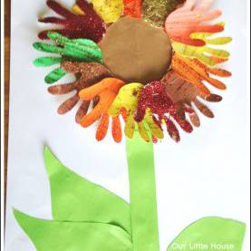 Unusual Fall Art Activities For Preschoolers Sunflower Handprint Art 2 €? Autumn/fall Art Activities For Kid