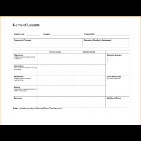 Unusual Free Lesson Plan Template Microsoft Word 5+ Free Lesson Plan Template | Teknosw