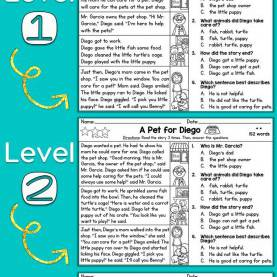 Unusual Guided Reading Comprehension Free Differentiated Reading Passage For First Grade, This Fre