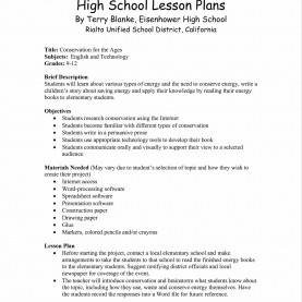 Unusual Lesson Plan Sample For High School Spreadsheet Lesson Plans For High School | Laobingkaisuo