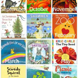 Unusual List Of Monthly Preschool Themes A Year Of Preschool Books & Activities ~ Reading Conf