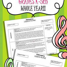 Unusual Pre K Music Lesson Plans Elementary Music Lesson Plans (Bundled) Set #1 | Elementary Musi