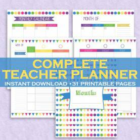 Unusual Pretty Teacher Planners Teacher Planner Teacher Organizer Classroom Planner C