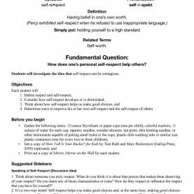 Unusual Self Respect Lesson Plans Self-Respect | School Counseling | Pinterest | Respec