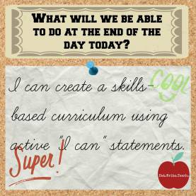 Unusual Skills Based Curriculum Eat. Write. Teach.: Developing A Skills-Based Curric
