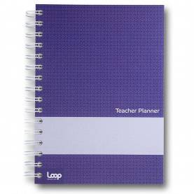 Unusual Teacher Planner Co A5 5 Lesson Academic Teacher Planner, Purple: Amazon.Co.Uk: Offic