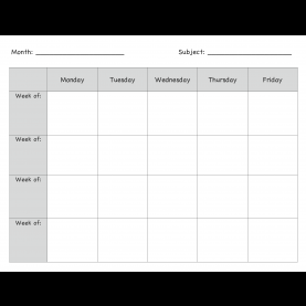 Unusual Teacher Weekly Lesson Plan Template Monthly Lesson Plan Template €? | Pintere