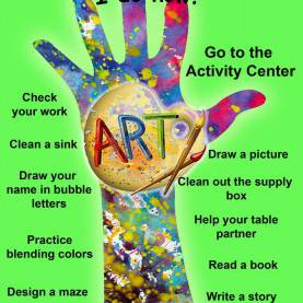 Useful Art Class Activities 105 Best Art Classroom: Free Time/early Finisher Activities Image