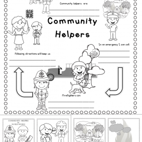 Useful Community Helpers Mini Book Fire Safety - Community Helpers - Poetry Close Reading Set & Min