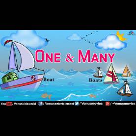 Useful Concept Of One And Many For Kindergarten One & Many - English Grammar For Kids - You
