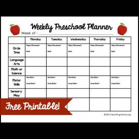 Useful Daycare Lesson Plan Ideas Weekly Preschool Planner | Preschool Planner, Free Printable An