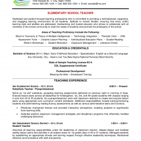 Useful English Lesson Plan Elementary Free School Teacher Resume (Elementary) | Templates A