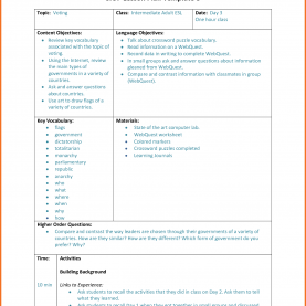 Useful Example Of Siop Lesson Plan Template 3 Siop Lesson Plan Template | Artresume Sa
