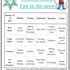 Useful January Themed Lesson Plans For Toddlers Toddler Lesson Plan - Yun5