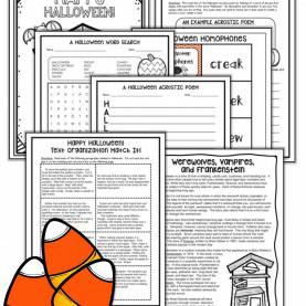 Useful Lesson Plan For Comprehension Passage Halloween Reading Packet - Halloween Reading Comprehension Passag