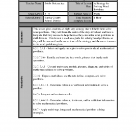 Useful Lesson Plan Templates Math Best Photos Of Math Lesson Plan Template - Math Lesson Pla