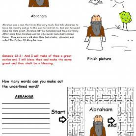 Useful Lesson Plans For Preschool Church Abraham Activity Sheet For Kids In Sunday School Or Children'