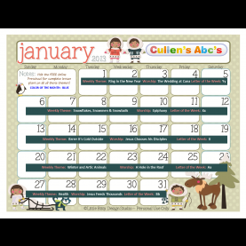 Useful Preschool Lesson Plans For January Preschool Calendars | Online Preschool And Children'S Videos B