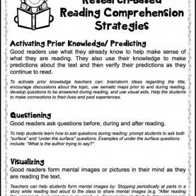 Useful Sample Lesson Plan Teaching Reading Comprehension Research-Based Reading Comprehension Strategies. Free Handou
