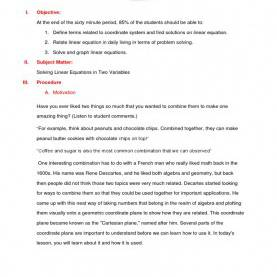 Useful Semi Detailed Lesson Plan In Biology High School Download Semi Detailed Lesson Plan In Mathematics - Docshare.