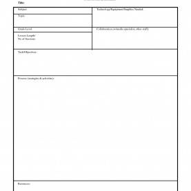 Useful Simple Lesson Plan Template Simple Lesson Plan Template | The Free Website Templ